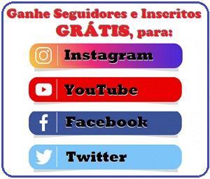Ganhe Seguidores e Inscritos GRÁTIS para o seu YouTube, Instagram, Facebook e Twitter!